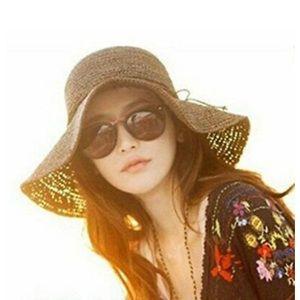 Ron Jon Surf Shop Packable Wide Brim Straw Sun Hat